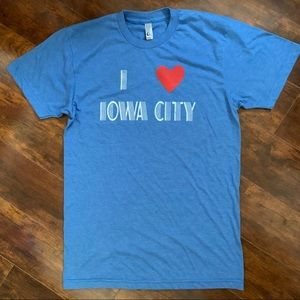 I ❤️ Iowa City Tee by The 50/50 American Apparel